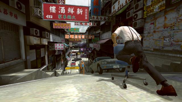 街スベリ ゲーム画面1