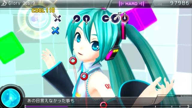 初音ミク -Project DIVA- F 2nd ゲーム画面1