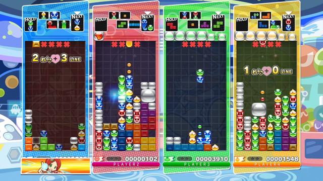 ぷよぷよテトリス ゲーム画面2
