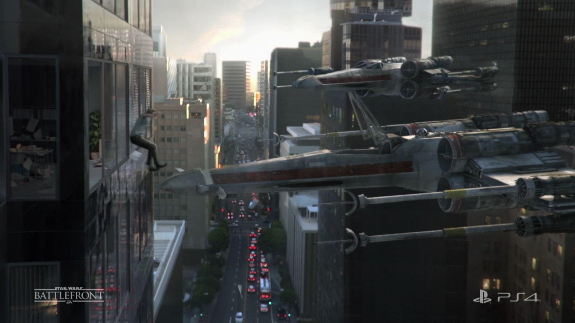 """PS4 CM 「ついに行けるぞ、あの世界。 """"Star Wars バトルフロント""""」 篇"""