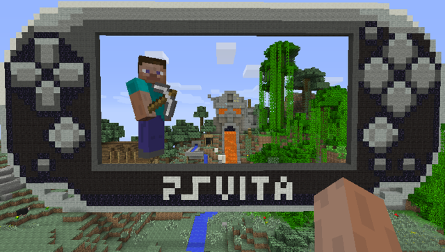 Minecraft: PlayStation Vita Edition ゲーム画面1