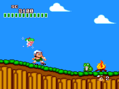 高橋名人の新冒険島 ゲーム画面2