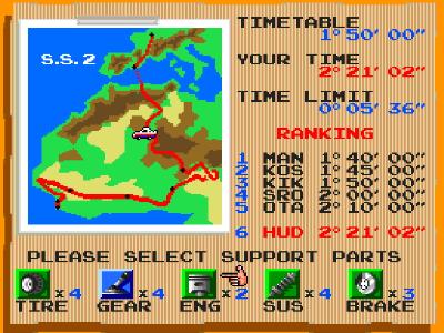 ビクトリーラン ゲーム画面1