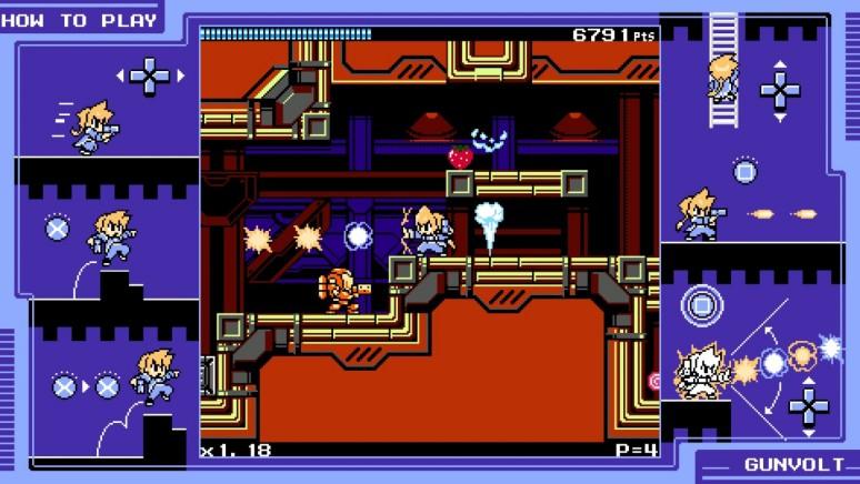 『ぎゃるガンヴォルト』ゲーム画面