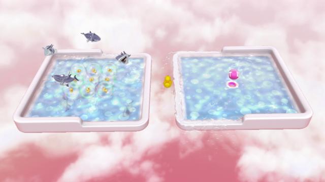 ぽちゃぽちゃあひるちゃん ゲーム画面1