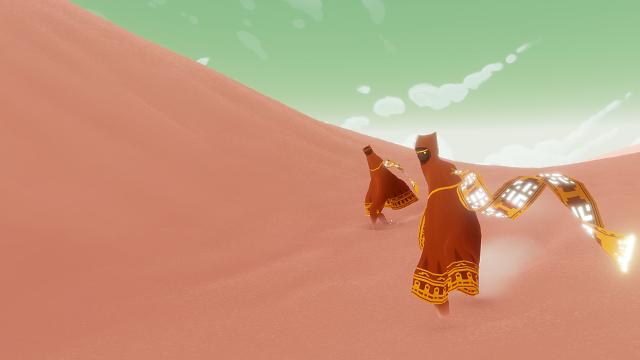 『風ノ旅ビト』ゲーム画面