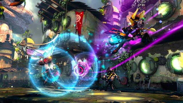 ラチェット&クランク INTO THE NEXUS ゲーム画面1
