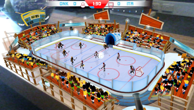 Table Play Ice Hockey ゲーム画面1