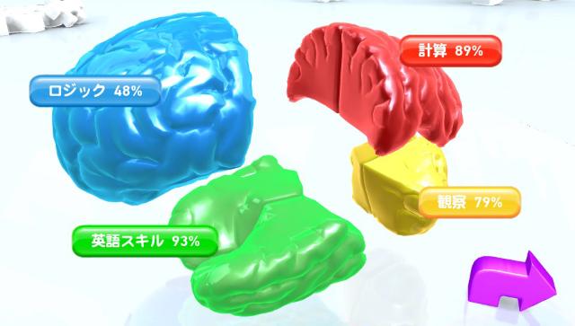 がんばれ!頭脳ちゃん ゲーム画面1
