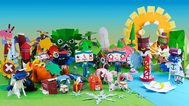 『Tearaway PlayStation 4』ゲーム画面
