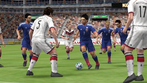 ワールドサッカー ウイニングイレブン 2014 蒼き侍の挑戦 ゲーム画面1
