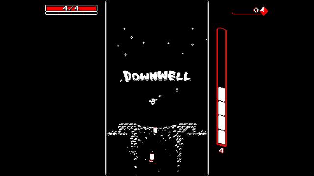 Downwell ゲーム画面1