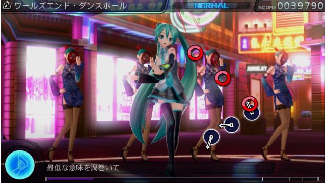 初音ミク -Project DIVA- f ゲーム画面1