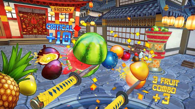 Fruit Ninja VR ゲーム画面2