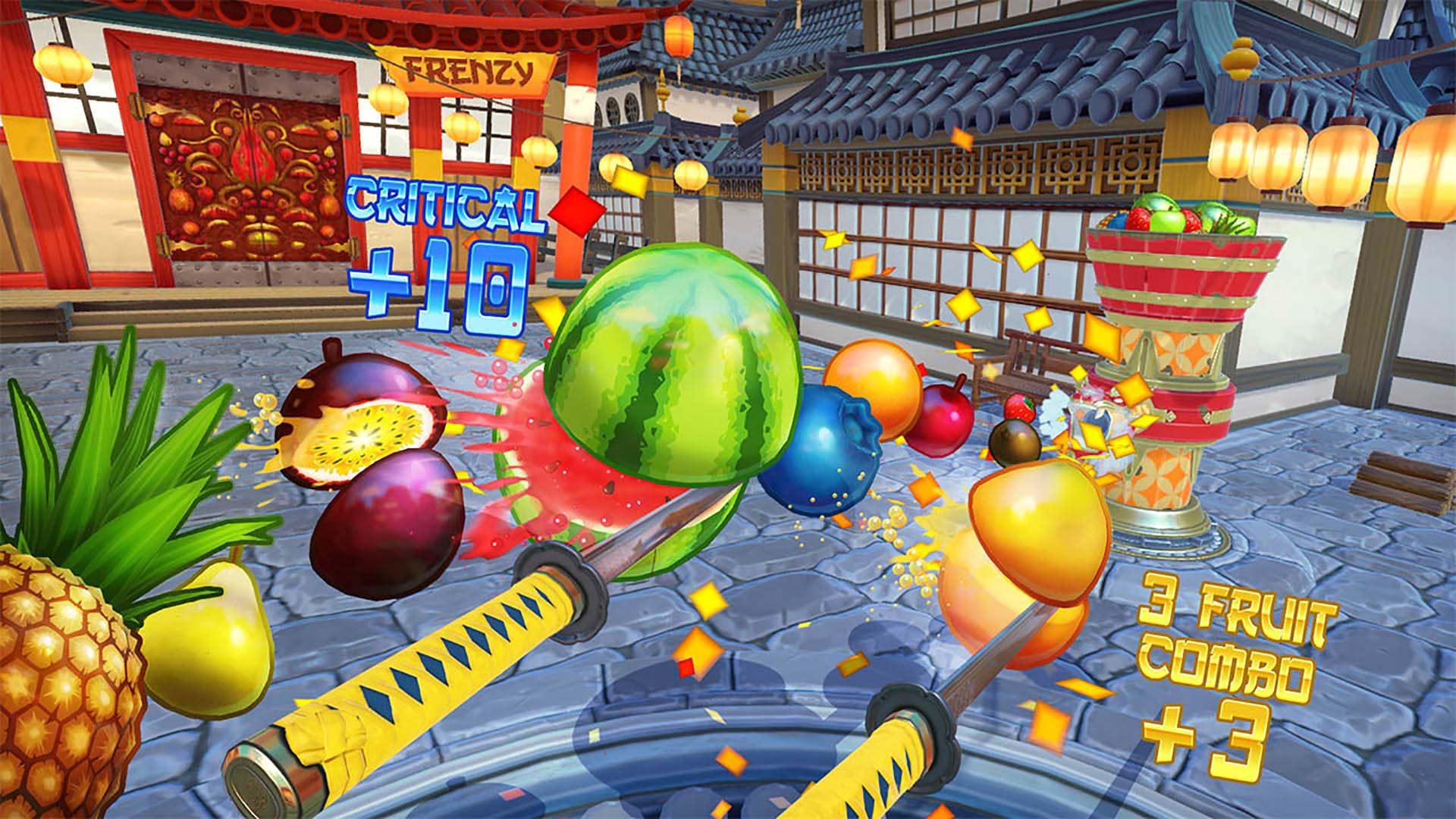『Fruit Ninja VR』ゲーム画面