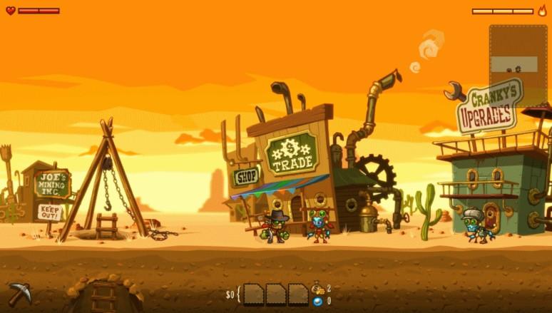 『スチームワールド ディグ』ゲーム画面