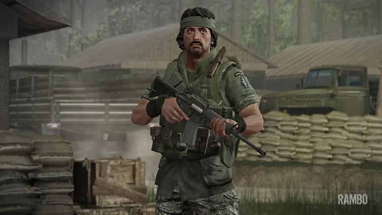 『RAMBO THE VIDEO GAME』ゲーム画面