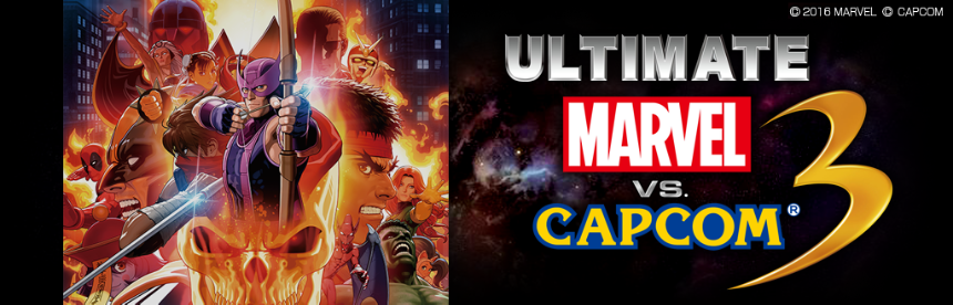 ULTIMATE MARVEL VS. CAPCOM 3 バナー画像
