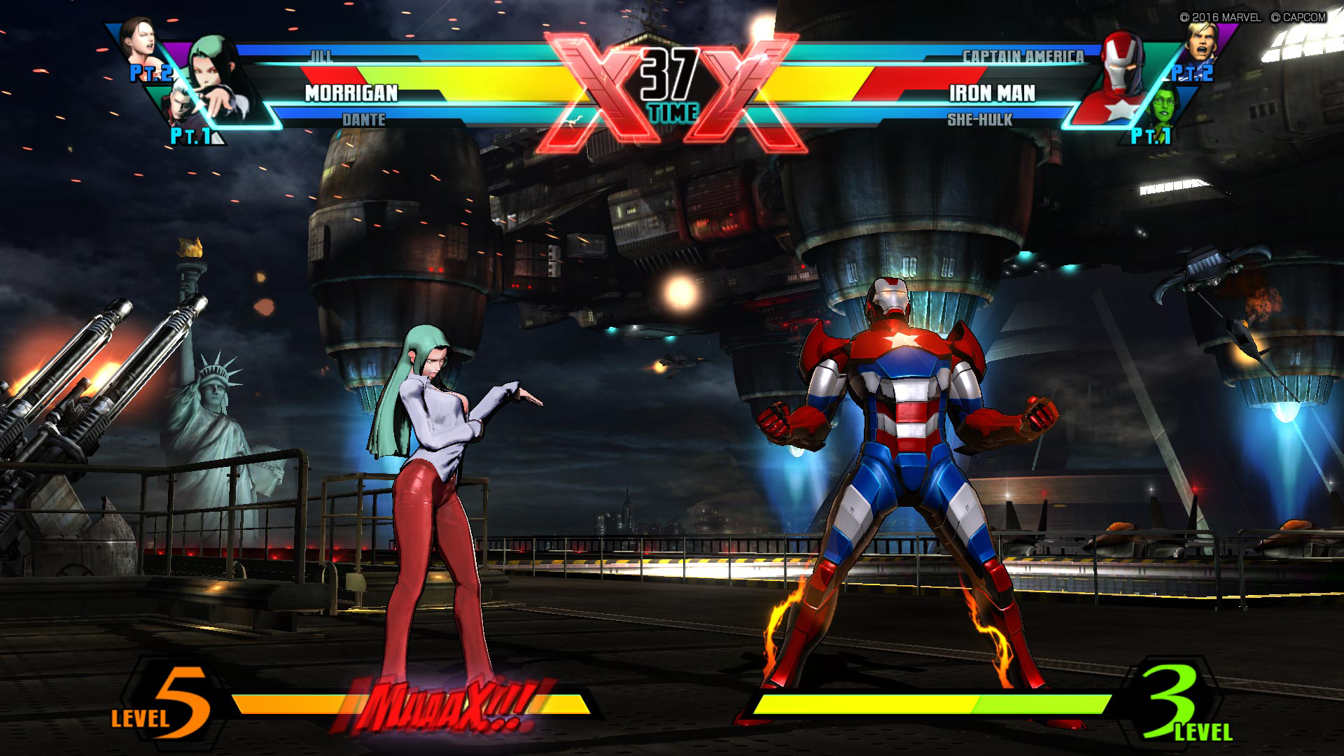 『ULTIMATE MARVEL VS. CAPCOM 3』ゲーム画面