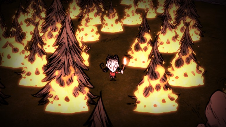 『Don't Starve:Console Edition』ゲーム画面
