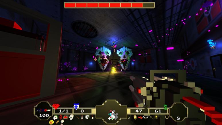 『Paranautical Activity』ゲーム画面