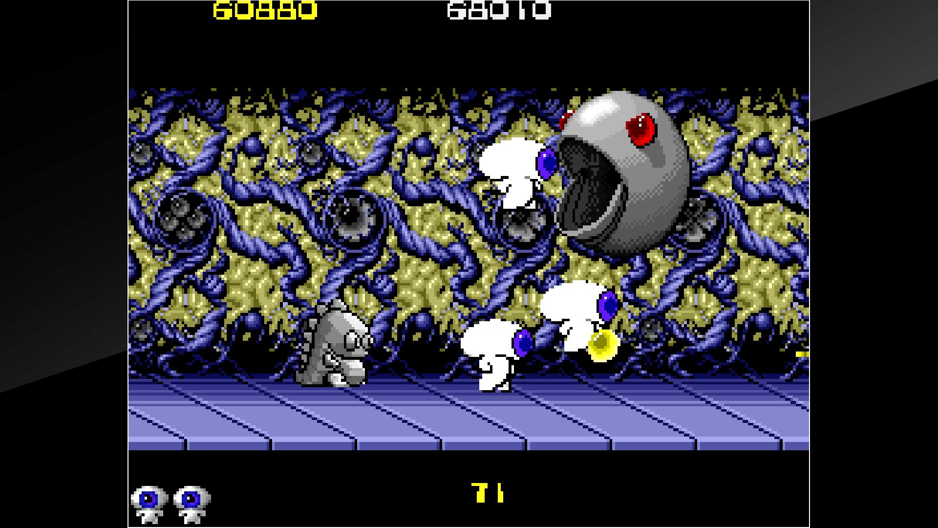 『アーケードアーカイブス ミュータントナイト』ゲーム画面