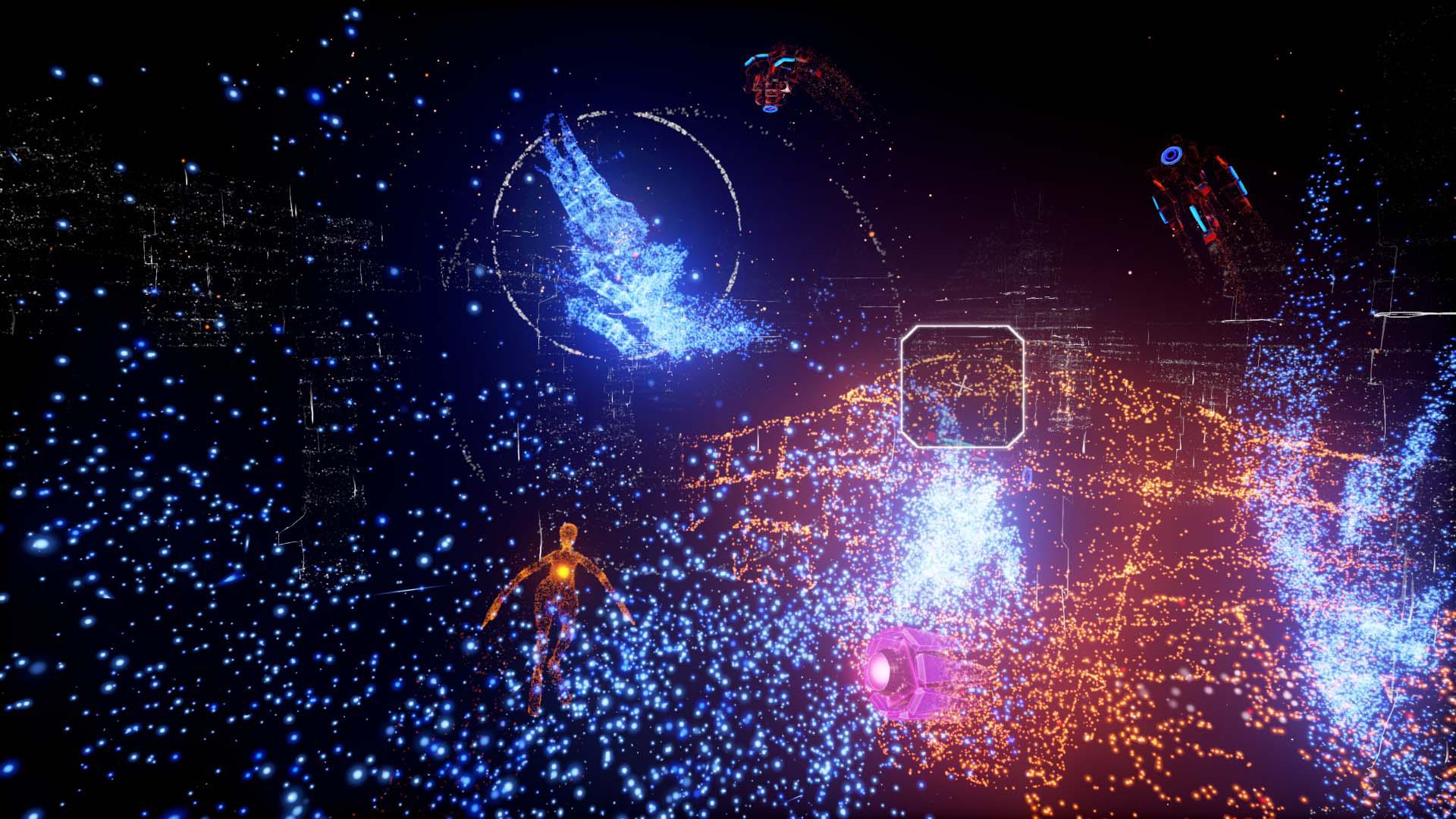 『Rez Infinite』ゲーム画面