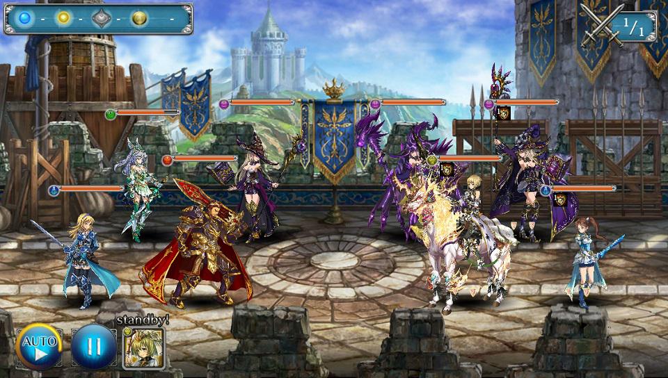 『少女とドラゴン-幻獣契約クリプトラクト-』ゲーム画面
