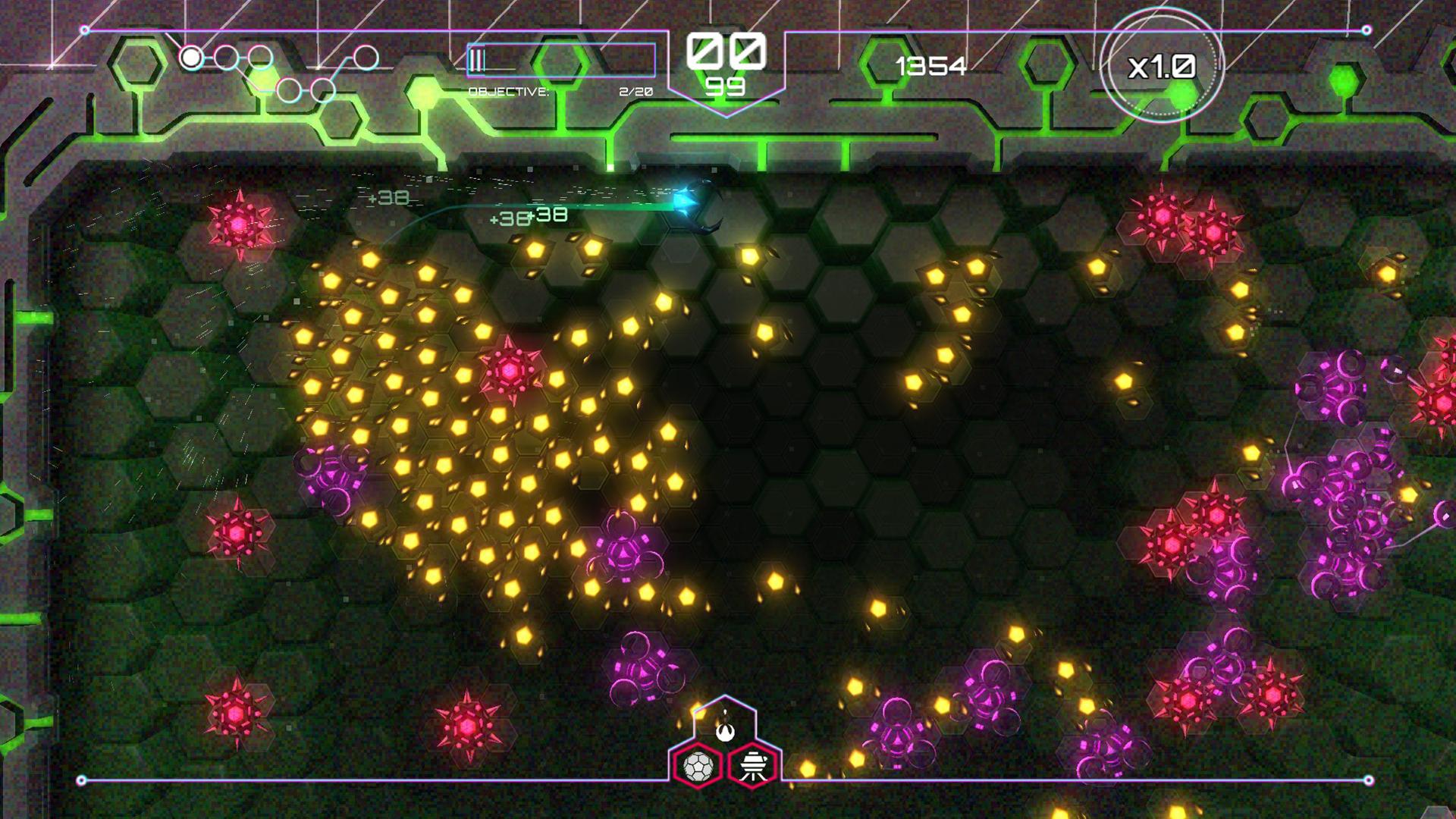 『Tachyon Project』ゲーム画面