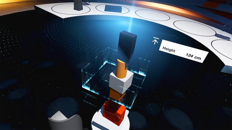 『つみきBLOQ VR』ゲーム画面