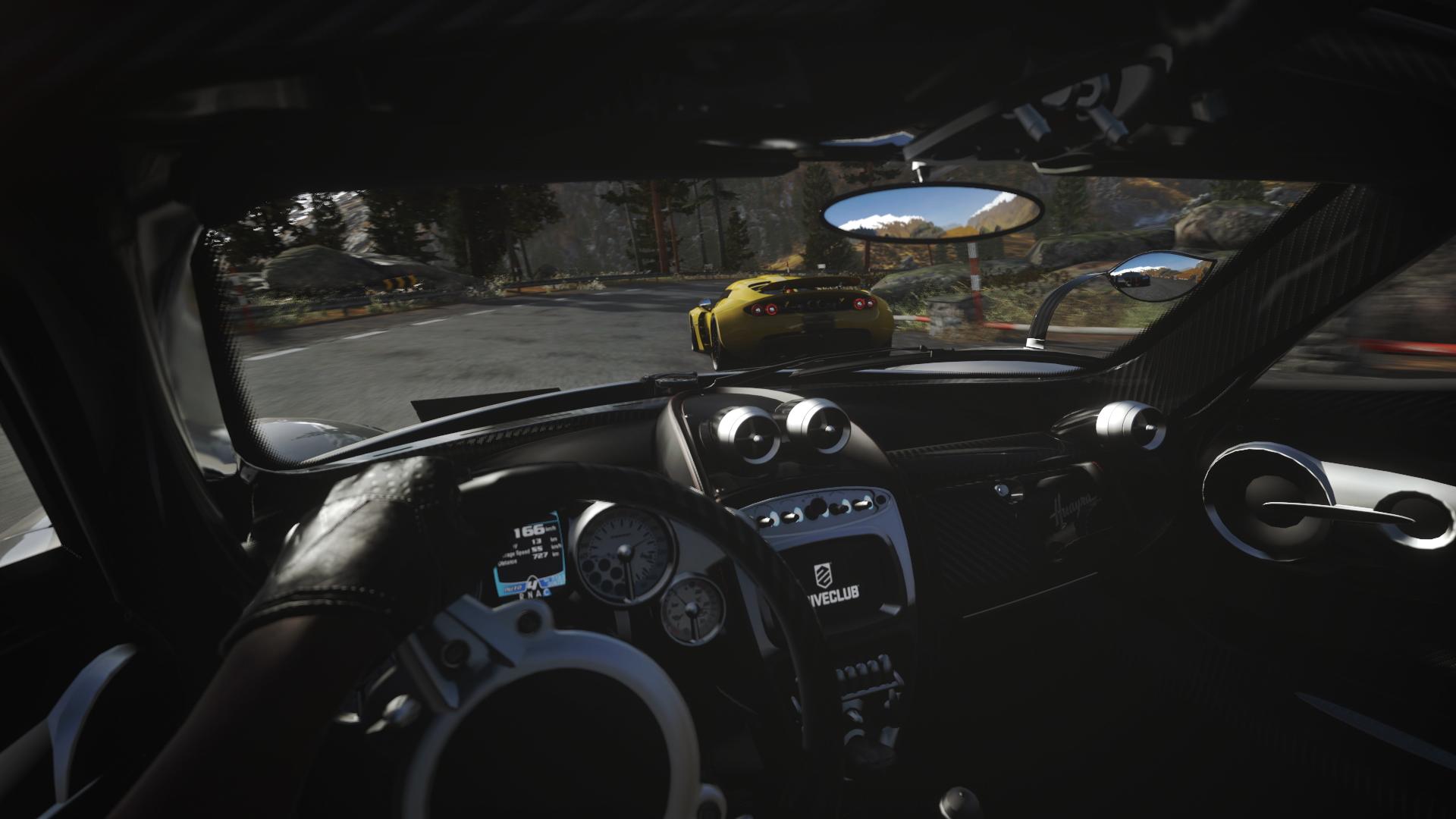 『DRIVECLUB VR』ゲーム画面