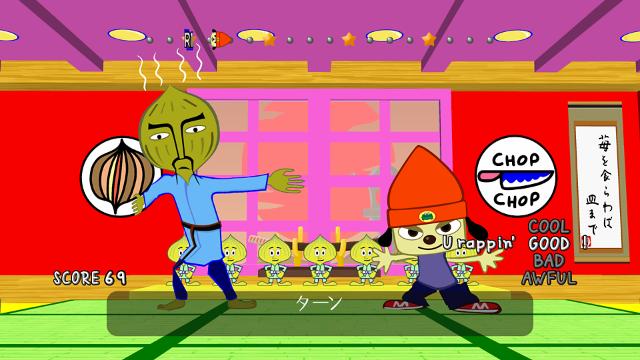 パラッパラッパー ゲーム画面1