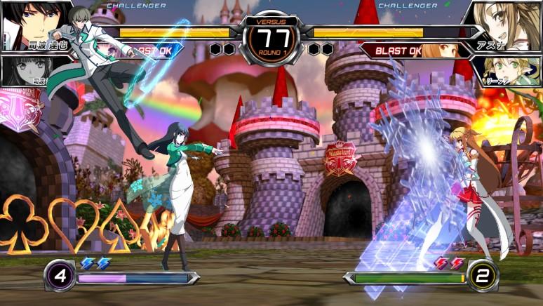 『電撃文庫FIGHTING CLIMAX IGNITION』ゲーム画面