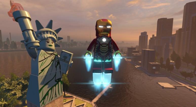 『LEGO マーベルアベンジャーズ』ゲーム画面