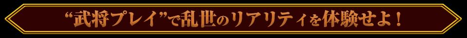 """■""""武将プレイ""""で乱世のリアリティを体験せよ!"""