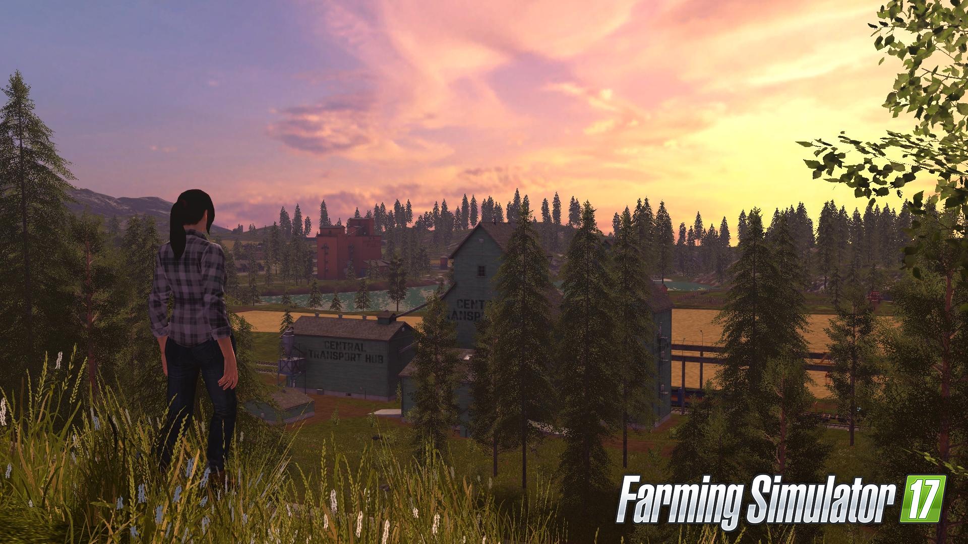『ファーミングシミュレーター 17』ゲーム画面