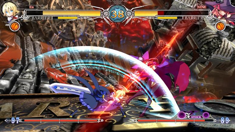 『BLAZBLUE CENTRALFICTION』ゲーム画面