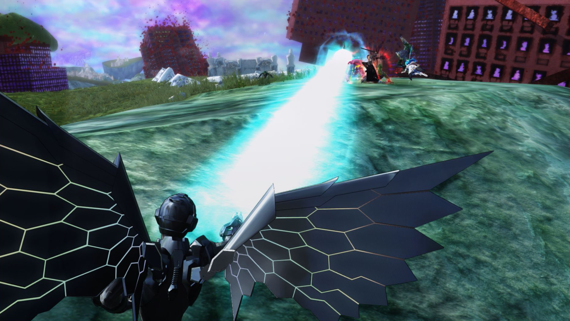 『アクセル・ワールド VS ソードアート・オンライン 千年の黄昏』ゲーム画面