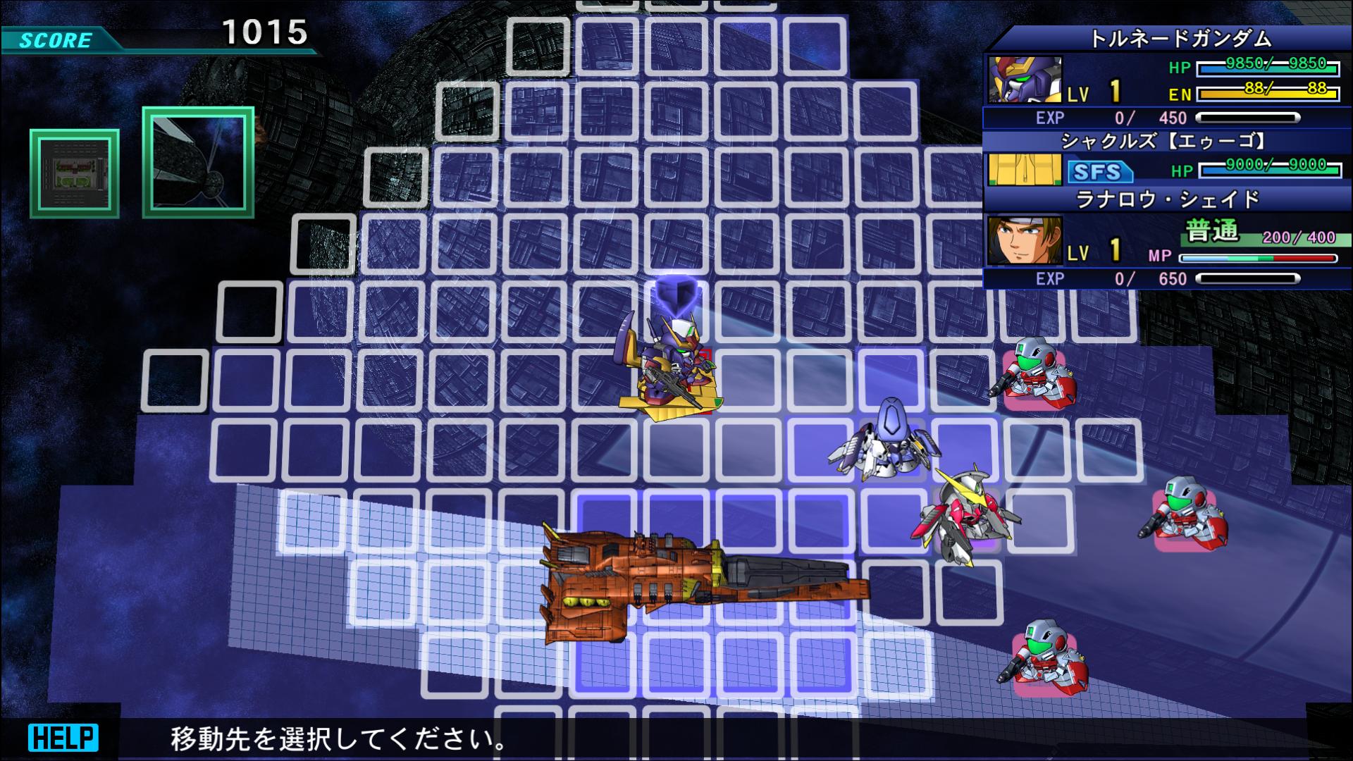 『SDガンダム ジージェネレーション ジェネシス』ゲーム画面