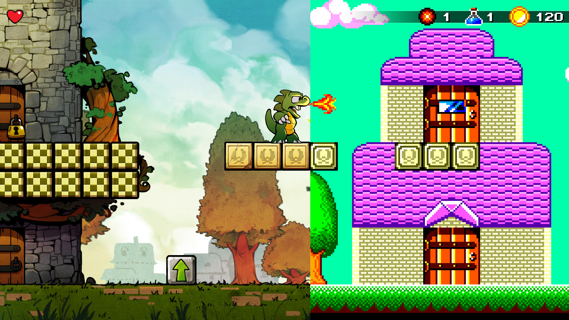 『Wonder Boy: The Dragon's Trap』ゲーム画面