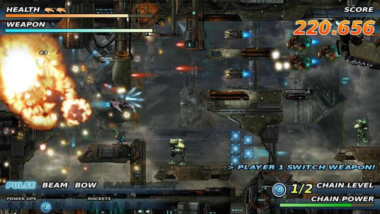 『Soldner-X: Himmelssturmer』ゲーム画面