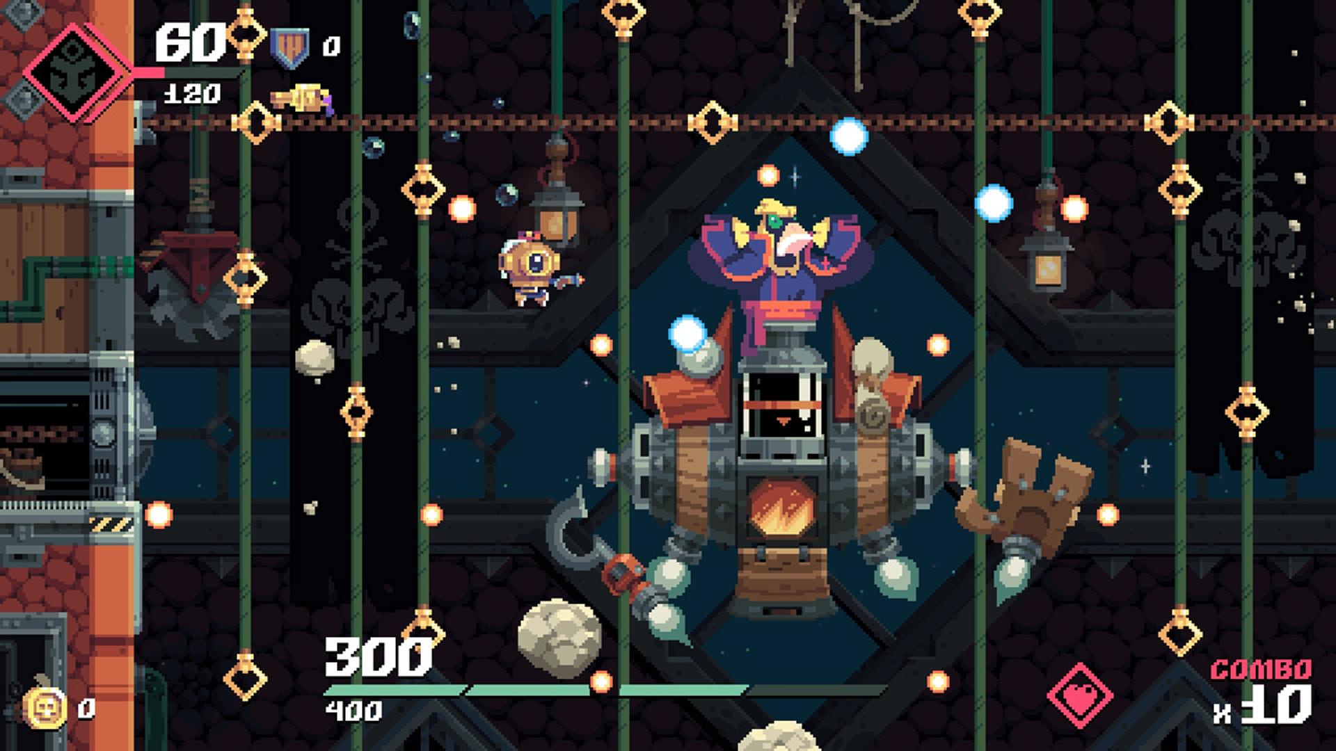 『Flinthook (フリントフック)』ゲーム画面