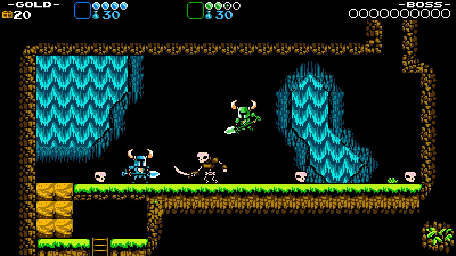 『ショベルナイト』ゲーム画面