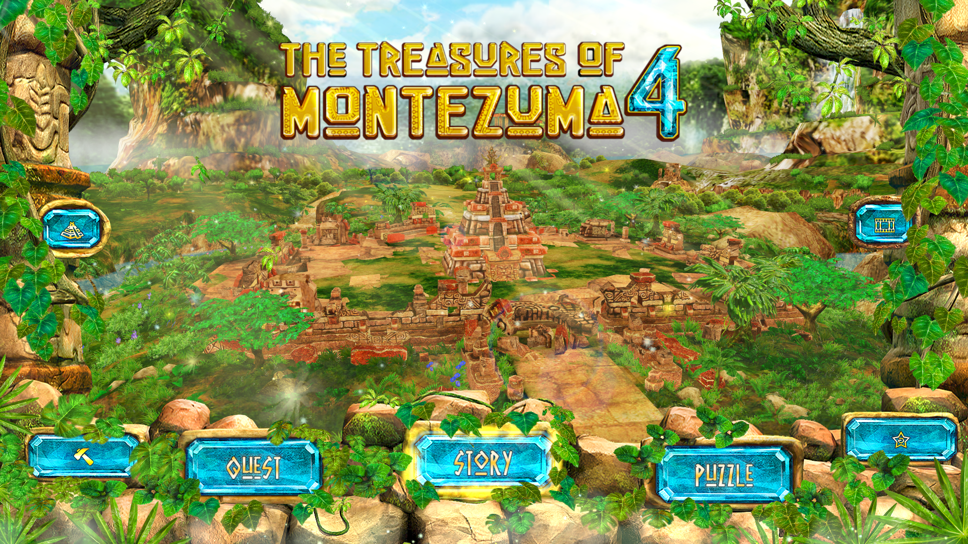 『The Treasures of Montezuma 4』ゲーム画面