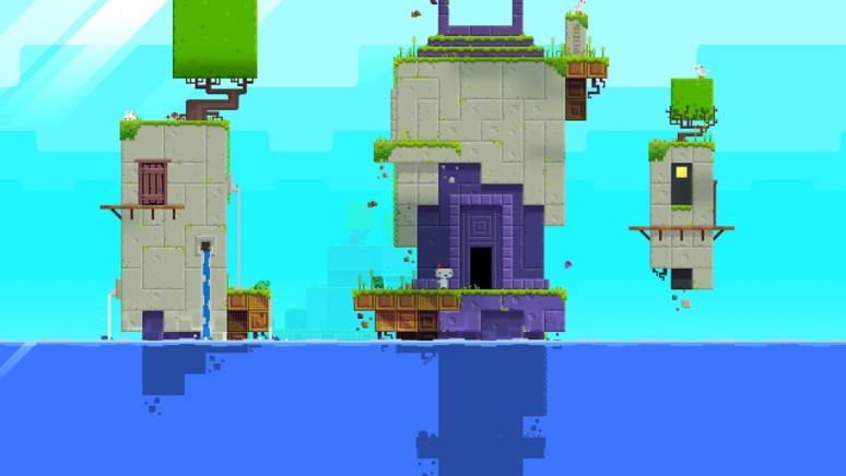 『FEZ』ゲーム画面