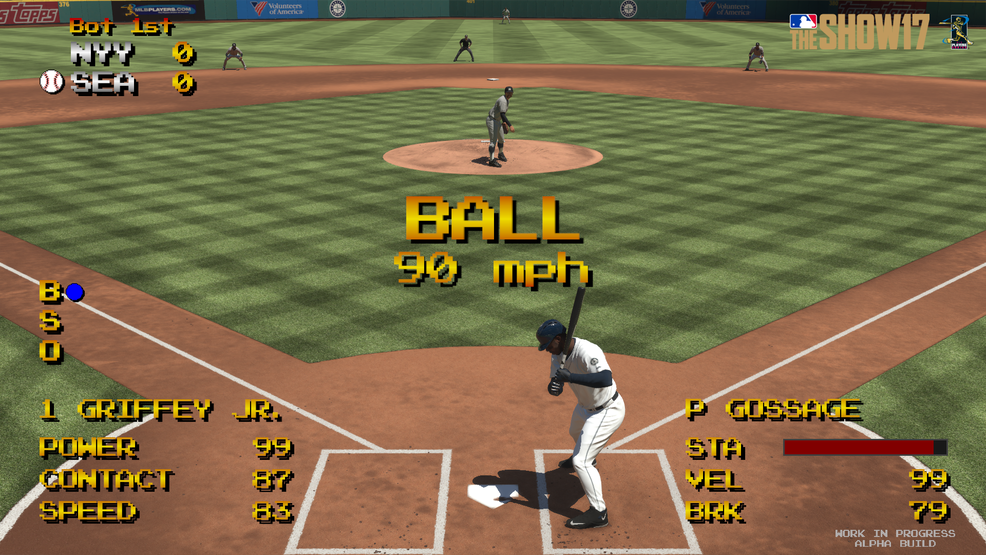 『MLB THE SHOW 17』ゲーム画面