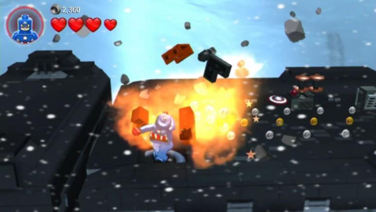 『LEGO マーベル アベンジャーズ』ゲーム画面