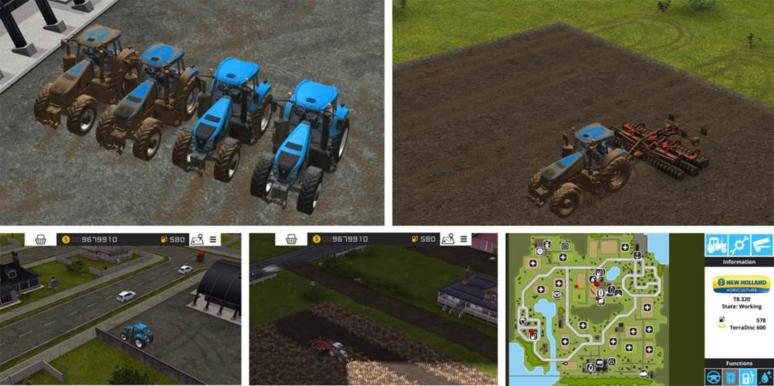 『ファーミングシミュレーター 16 ポケット農園3』ゲーム画面