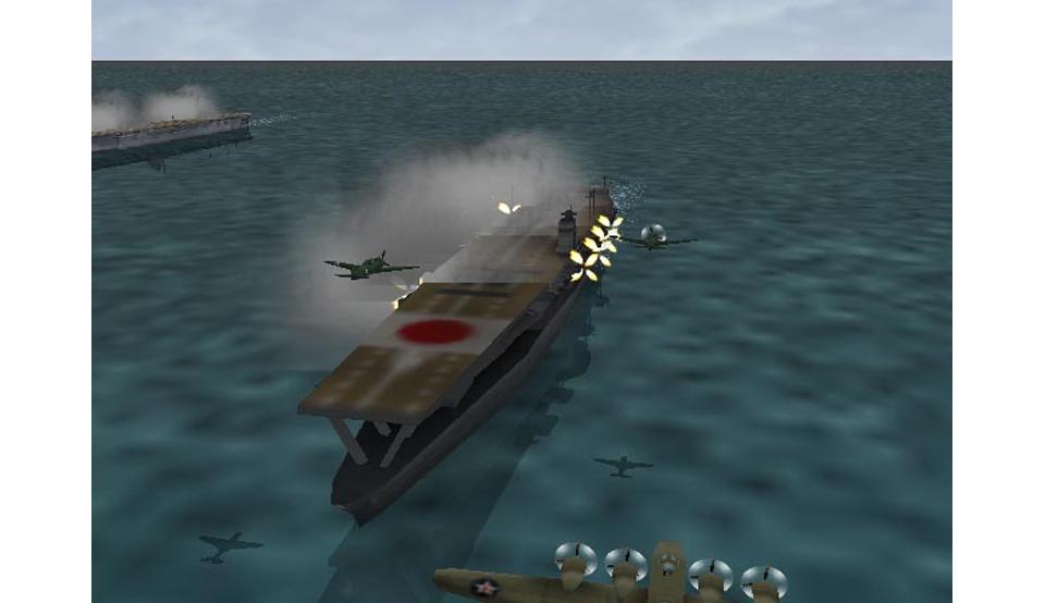 『太平洋の嵐~皇国の興廃ここにあり、1942戦艦大和反攻の號砲~』ゲーム画面