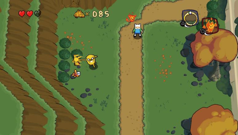 『アドベンチャー・タイム ネームレス王国の3人のプリンセス』ゲーム画面
